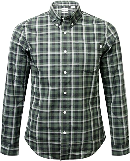 Timberland - Camisa de manga larga con bolsillo y botones para hombre - Verde - X-Large: Amazon.es: Ropa y accesorios