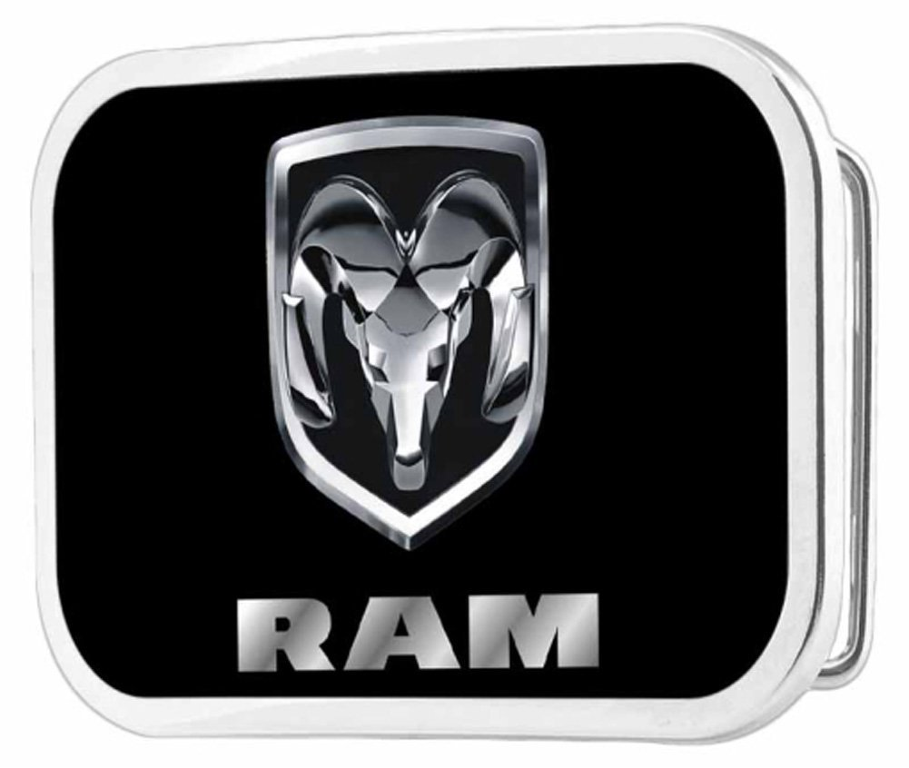 Dodge Automobile Company Silver Ram Logo Rockstar Belt Buckle Buckle Down