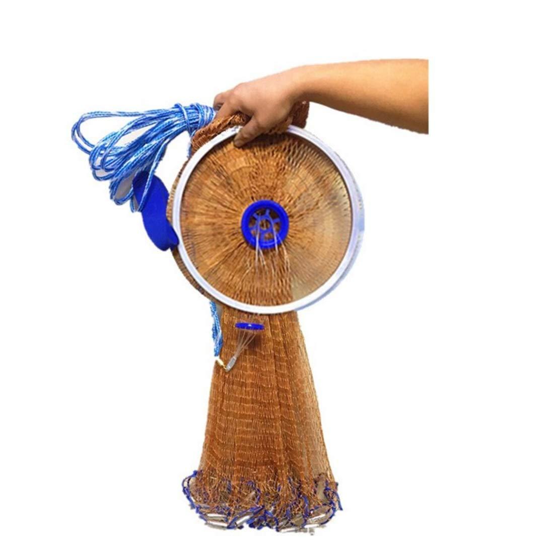 Plumb bob 7ft FELICIPP Filet de Fonte de pêche en Eau salée pour la Taille de Filet de Filet de Poisson de piège à appÂts 4ft   5ft   6ft   7ft   8ftNets