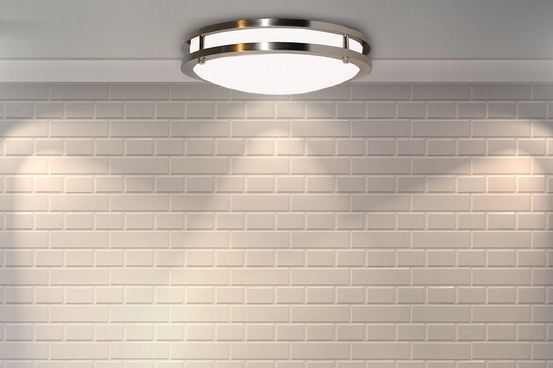 "5000K Daylight White Easy to Install 50,000 Hours Life 80/% More efficient UL /& Energy Star 14/"" inch Sleeklighting Modern Flush Mount Dimmable LED Ceiling Light Dimmable 1400 Lumens 20Watt"