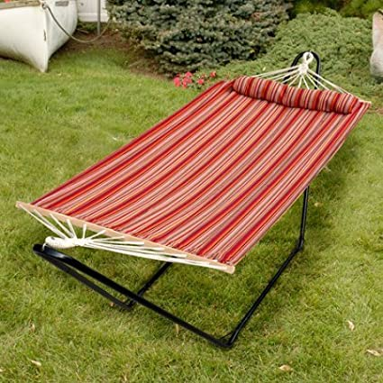 48 Tequila Sunrise Hammock with Pillow, Toasted Almond