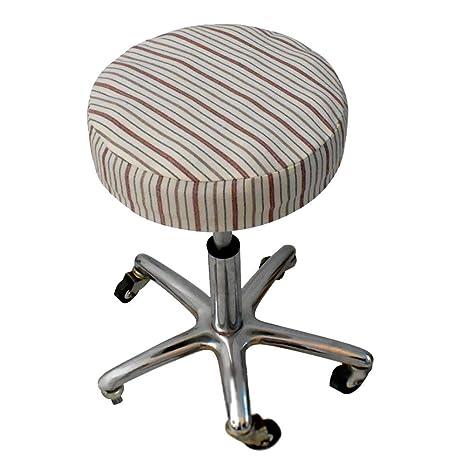 Amazoncom Bulary 5pcs Chair Seat Covers Round Bar Stool Linen
