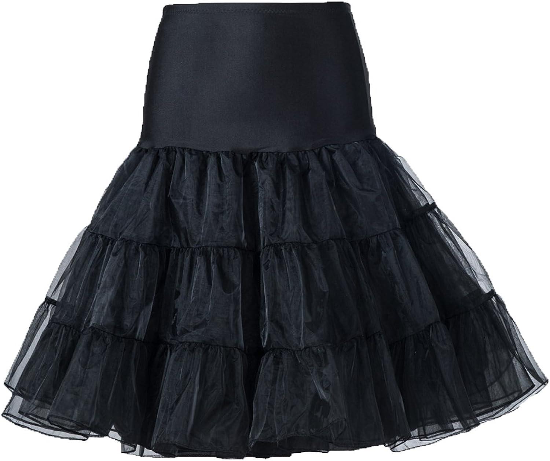 50s 65cm Rockabilly Long Petticoat Tulle Costume Underskirt Red Pink White Black