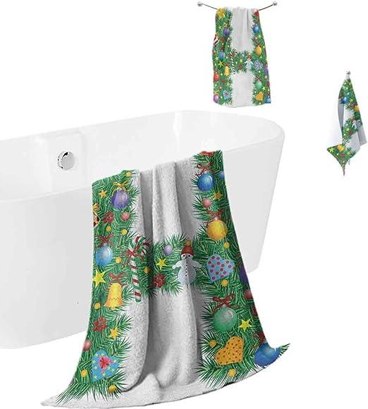 New Bath Towel Quick Dry Vintage Christmas Chariot Beach Towel Microfiber Fabric