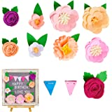 FIOBEE Letter Board Accessories Felt Flower Decorations for Letter Board Decor Changeable Message Board Accessories for Party
