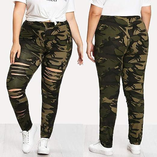 f97d5f0a92e09 Amazon.com: Women Plus Size Pants Ladies Yoga Camouflage Teen Girls Elastic  Waist Sport Leggings Casual Pants: Clothing