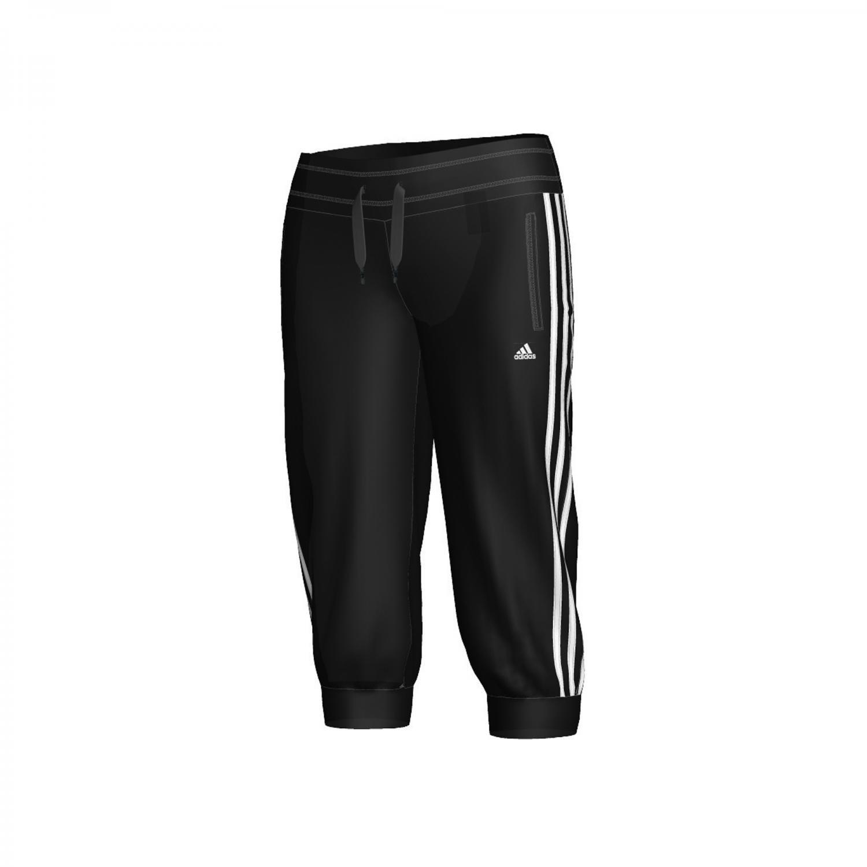adidas Damen 3/4 Knit Hose Essentials 3S schwarz/weiß XXS X13215