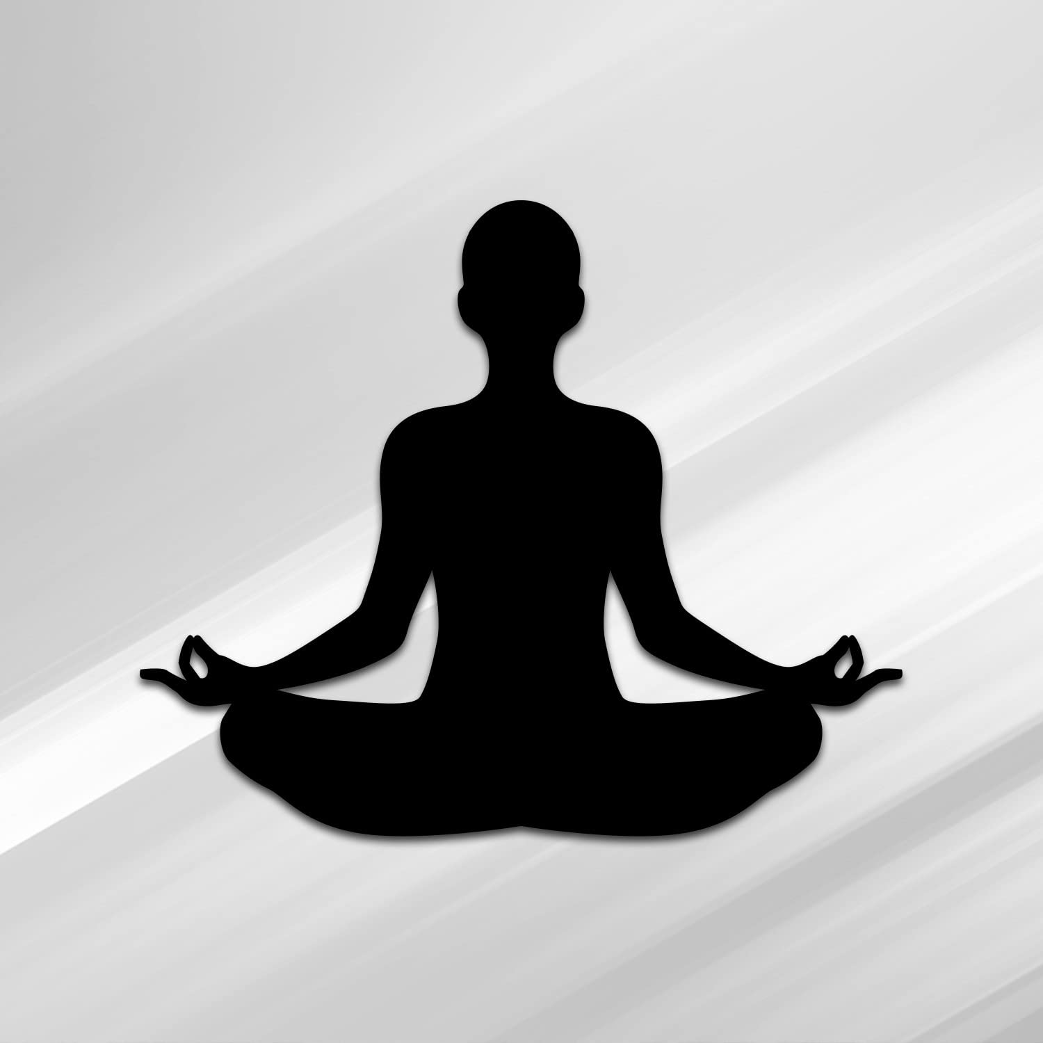 D020-B Premium Quality Vincit Veritas Yoga Pose Nameste Black Vinyl Decal Sticker 5.5-Inches