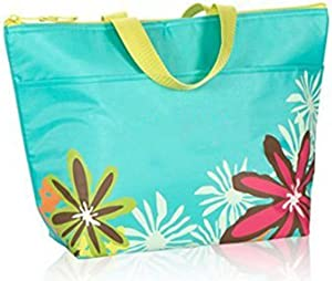 Thirty One Thermal Tote in Turquoise with Daisy Craze - No Monogram - 3000
