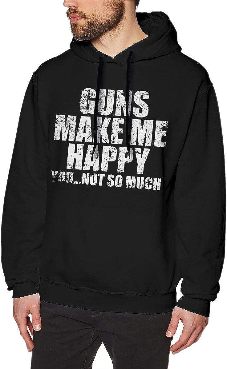 ZL Guns Make Me Happy Mens Hoodie Sweatshirt Black