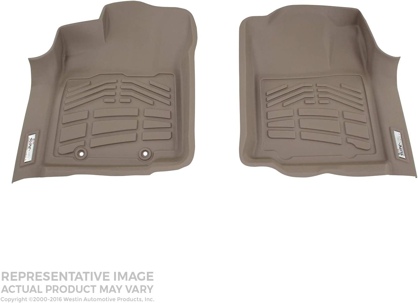 Westin Wade 72-110011 Black Sure-Fit Front Right And Left Molded Floor Mat Set 1 Pair