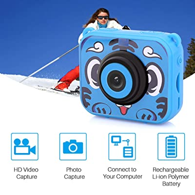 Thinktoo Kids Waterproof Camera Video Digital 1080 HD Screen Toys Gifts Build-in SD Card for Baby, Kiddie, Kids, Adult, Infant, Toddlers Sports Outdoor Play Toys: Arts, Crafts & Sewing