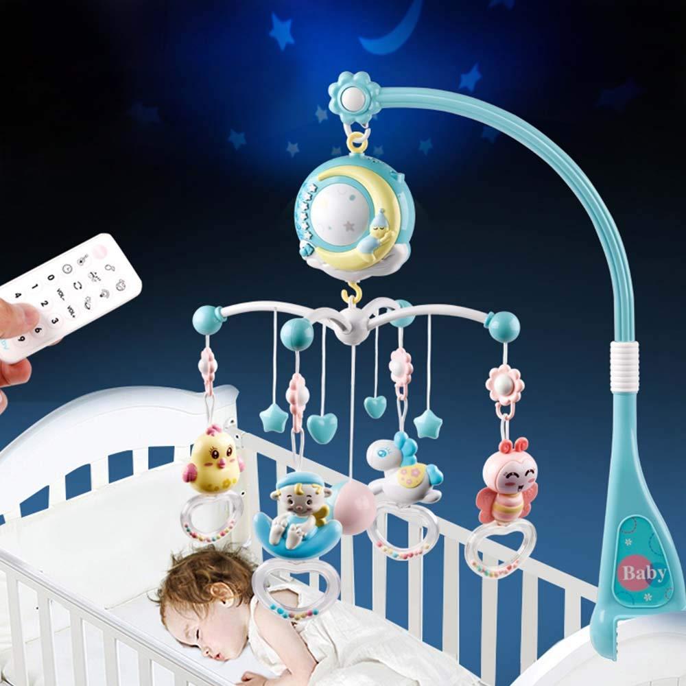 Moonvvin Baby Mobile para cunas con música, cuna móvil con luz ...