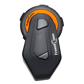 Casco de la motocicleta Intercom, Freedconn Intercomunicador Bluetooth Casco vollduplex Manos Walkie Talkie 6 conductores Intercomunicador Grupo ...