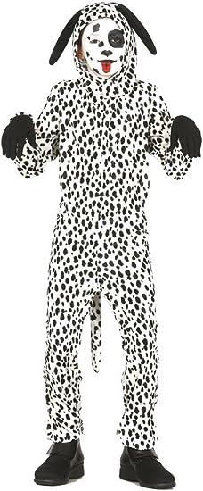 Guirca - Disfraz de perro dálmata, talla 7-9 años, color blanco ...