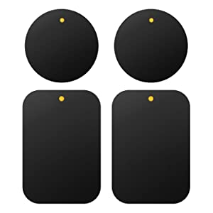 Cellet Pack of 4 Metal Plate Replacement Magnet Disk with 3M Strong Sticky Adhesive for Magnetic Cradle-Less Cup Holder, Dashboard, Windshield, CD Slot, or Air Vent Phone Holder Car Mounts, etc
