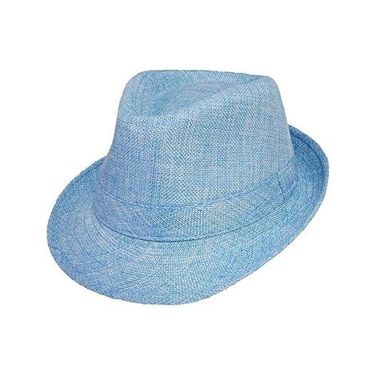 0a6722a8505 Kids Trilby Fedora Hats Boys Hats - Light Blue Color ( FedHatK2Z) (Light  Blue