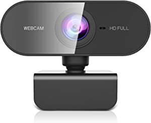 Webcam with Microphone for Desktop, ZZCP Full HD 1080P Live Streaming Web Cam, Auto Focus Plug and Play USB Computer Camera for Laptop/PC/Mac, Online Studying,Video Calling and Conferencing