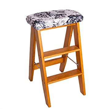 Phenomenal Amazon Com Step Stool Folding Wooden Mini Step Ladder Stool Gmtry Best Dining Table And Chair Ideas Images Gmtryco