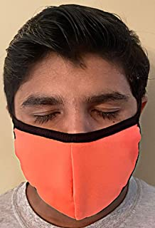 product image for Made in USA Fashion Protective Face Masks Unisex Washable Cotton Mask Hand Made (Bright Coral)