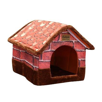 JEELINBORE Vintage Casa Mascotas Cómodo Plegable Portátil Camas Sofás Cojín para Gatos Perros (50 *