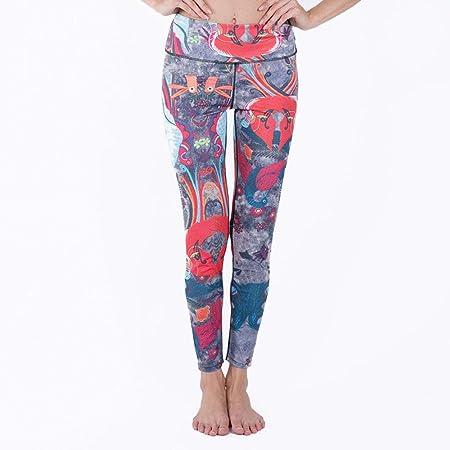 Wuxingqing Pantalones de Yoga para Mujer Imprimir Deportes ...