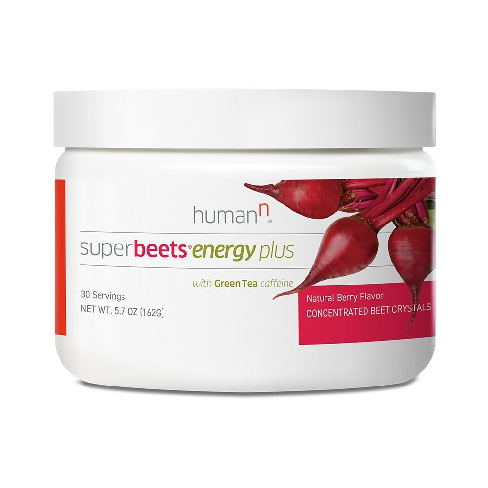 SuperBeets Energy Plus - New Limited Edition - Natural Energy Superfood - Premium Nitric Oxide Booster - Non-GMO Nitrate Rich Beet Root Powder with Green Tea Extract - 5.7 Ounce 30 Servings