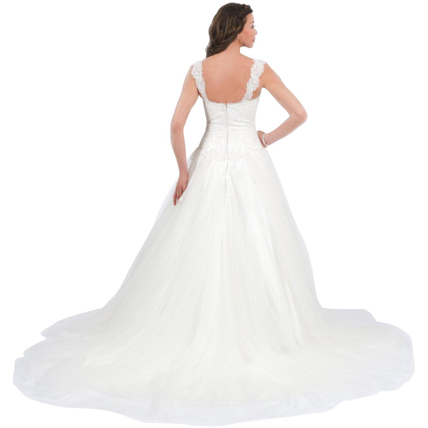 Lux Bridal Women S Misha Sweetheart Neckline Tulle Flare Wedding Dress
