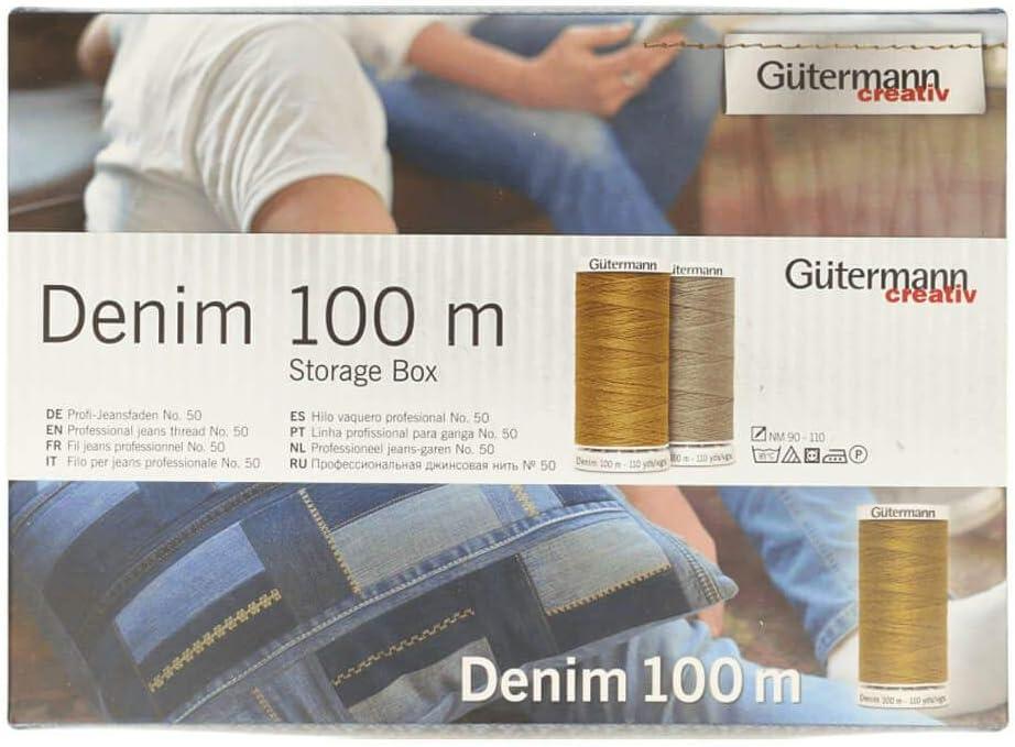 G/ütermann Bo/îte de 48 Rouleaux de Fil sp/écial Jeans