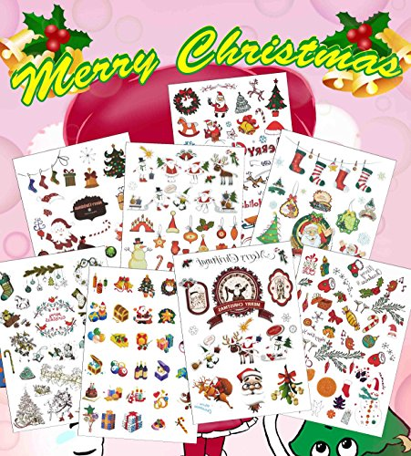 Last Second Halloween Costumes For Guys (COKOHAPPY Christmas Decorations Temporary Tattoos For Kids, Adults, Teens - 9 Sheets of 150+ Festival Tattoos - Santa, Reindeer, Snowflake, Stocking Stuffers, Christmas Trees)