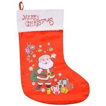 CDD Calcetines De La Navidad, Bolsos del Regalo, Decoraciones De La Navidad, Bolsos del Caramelo del Día, Chimenea Colgante Tuba,A: Amazon.es: Hogar