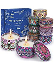 SUPERSUN Scented Candles Gifts Set for Women, Soy Wax Candle Kit, Lavender, Lemon, Magnolia, Jasmine Candles for Home(9 x 2.5oz)