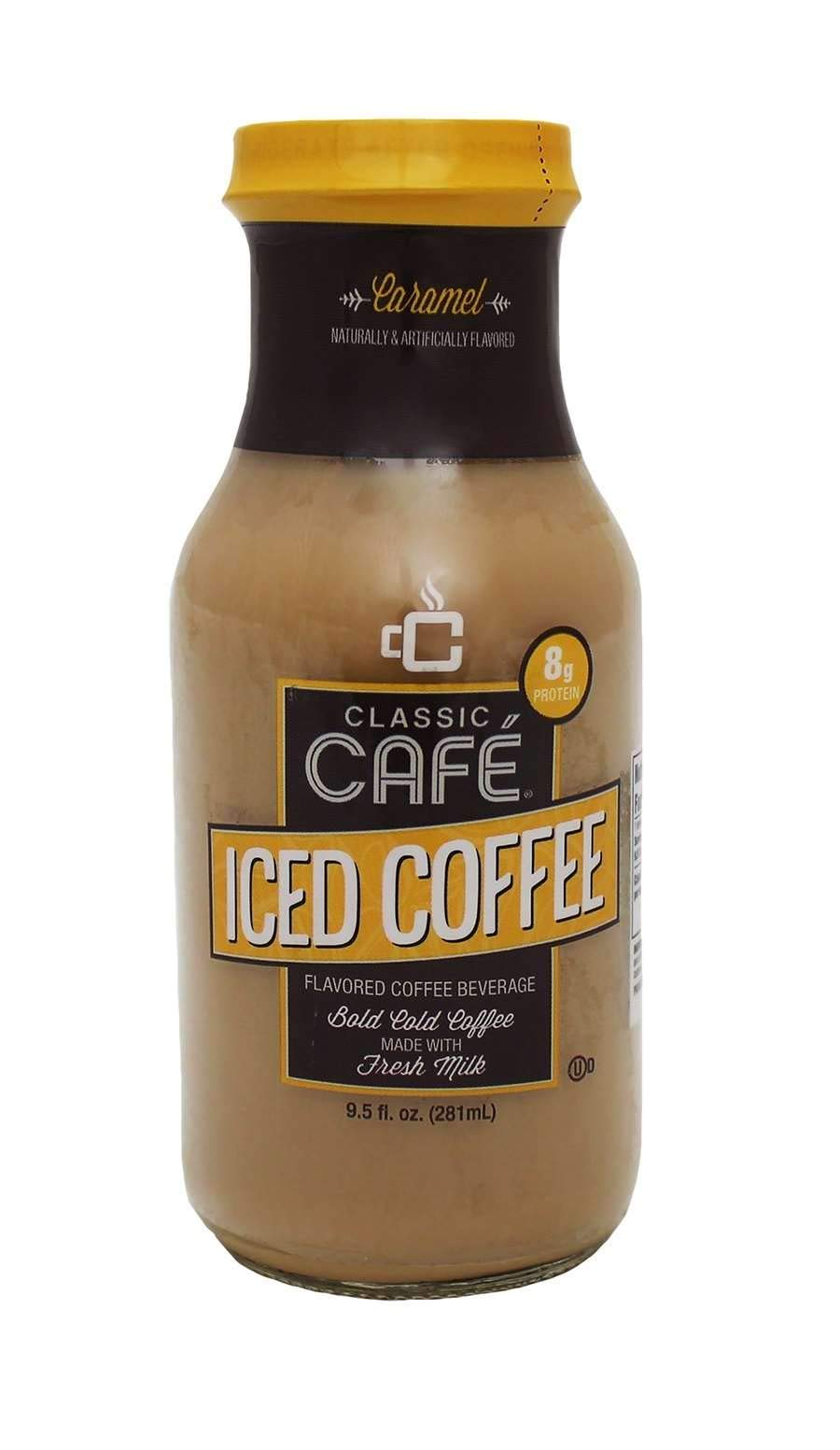 Classic Cafe Ready to Drink Iced Coffee 9.5 ounce (Pack of 12) (Caramel)