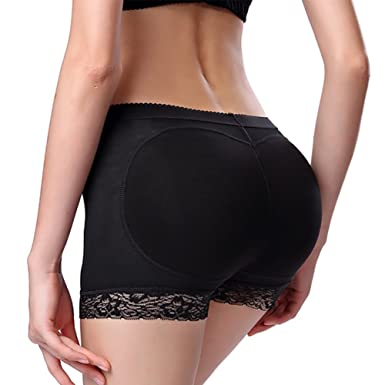 e868008ed3cd Image Unavailable. Image not available for. Color: YANXEN Women Lace Padded  Seamless Butt Hip Enhancer Shaper Panties Underwear ...