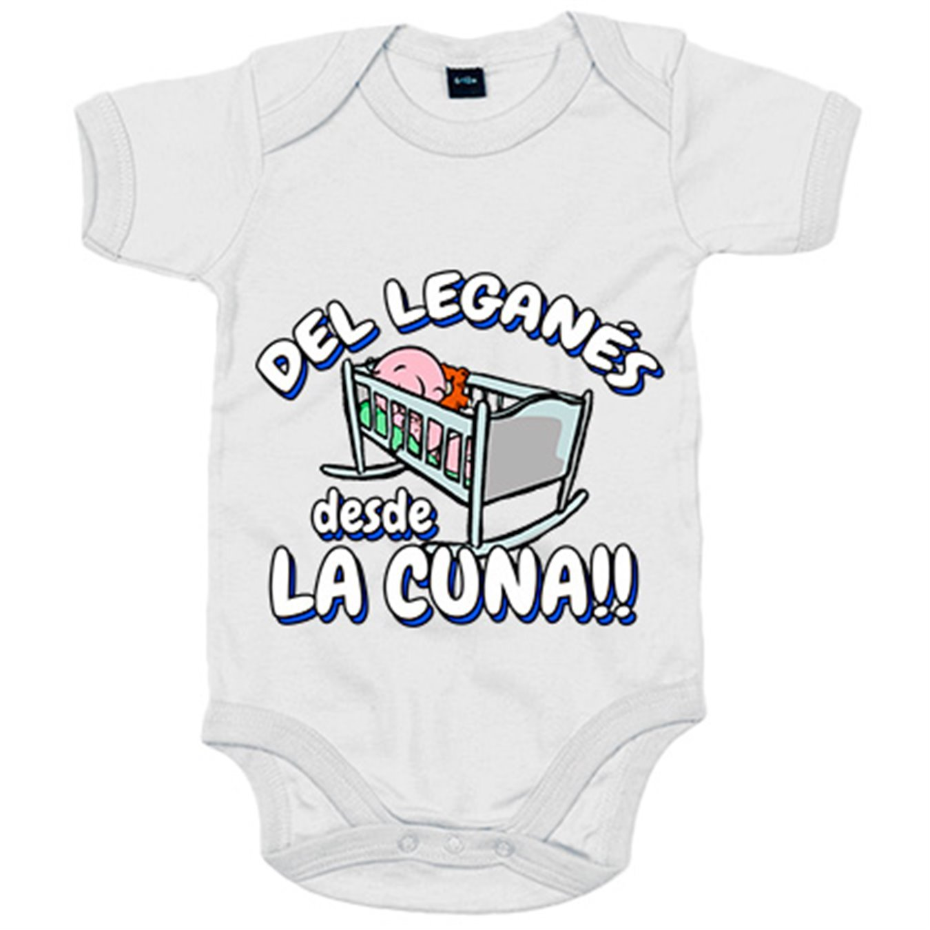 Body bebé del Leganés desde la cuna fútbol - Azul Royal, 6-12 meses: Amazon.es: Bebé