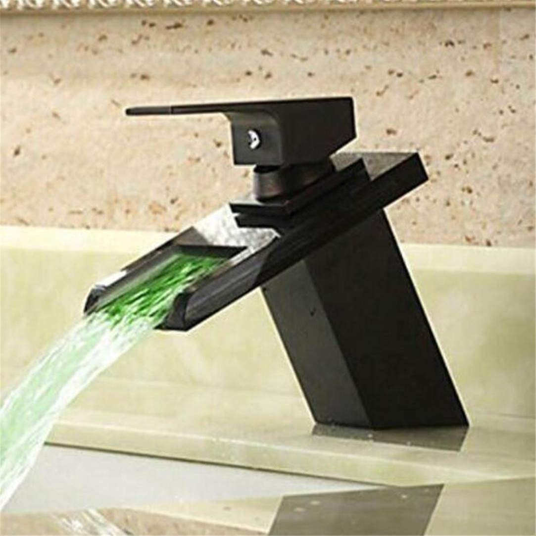 Faucet Washbasin Mixer  Bathroom Sink Faucet Led 3 colors Hot and Cold Water Basin Faucets Bathrrom Led Taps