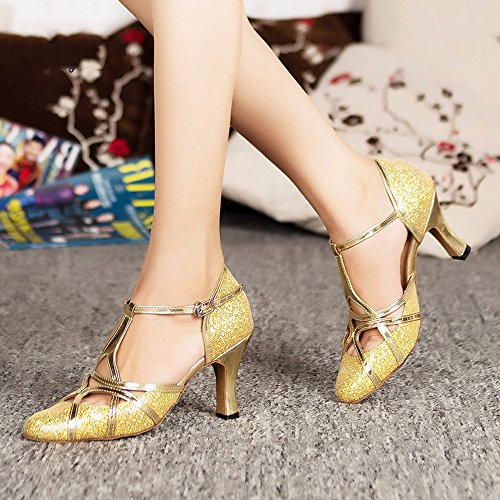 Oro6cm peluda Baile inferior de Soft Sandalias Masocking Mujer Zapatos FWqxOUwnZv