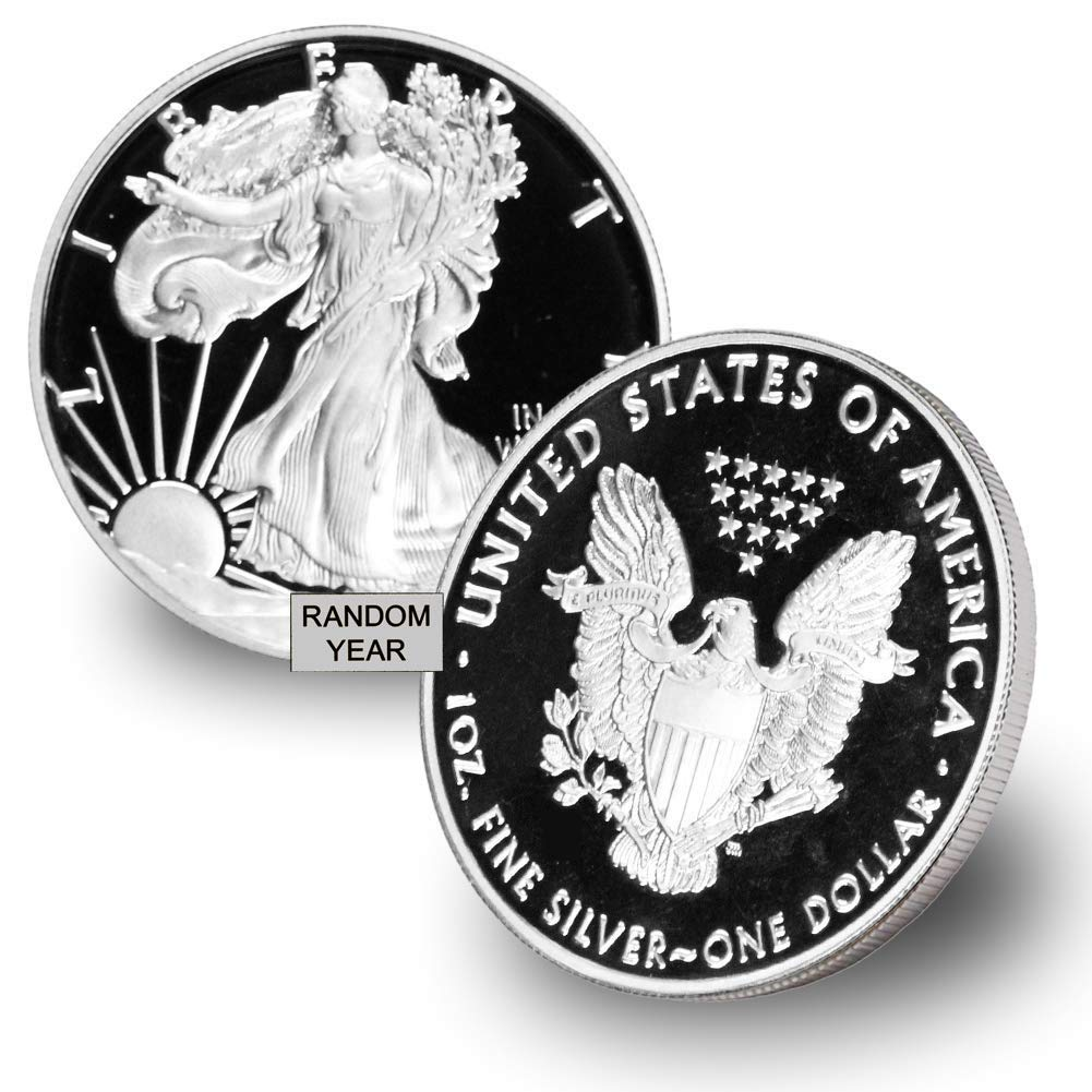 Random Year $1 Proof Present 1986 w//Box /& COA 1 oz American Silver Eagle