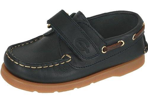Gallucci - Mocasines de Cuero para niño Azul Azul Oscuro 35 EU: Amazon.es: Zapatos y complementos