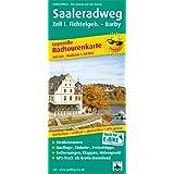 Saale-Radwanderweg, Zell i. Fichtelgeb. - Barby: Leporello Radtourenkarte mit Ausflugszielen, Einkehr- & Freizeittipps sowie Entfernungen, Etappen, ... 1:50000 (Leporello Radtourenkarte / LEP-RK)