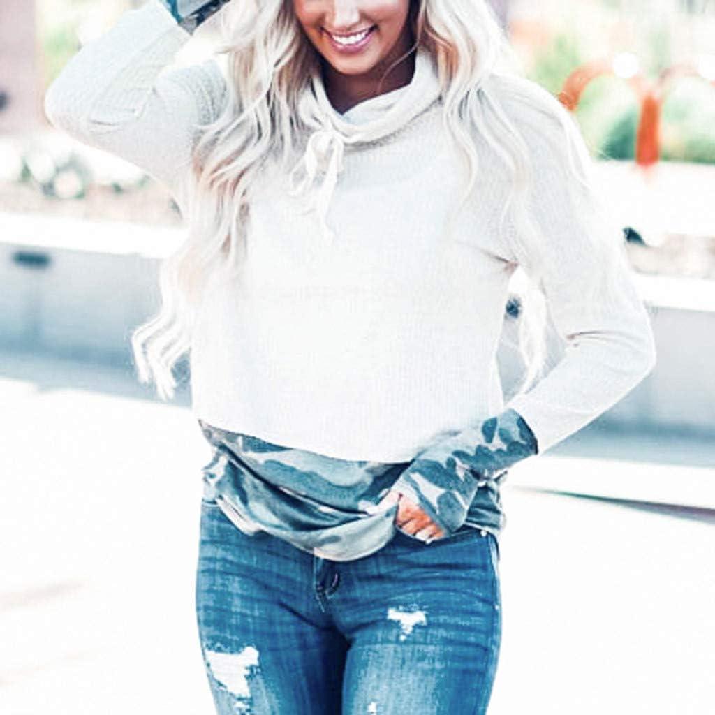 Elegant Design Ladies Warm scarf with Collar Camouflage Stitching Long Sleeve Casual Shirt Muffler