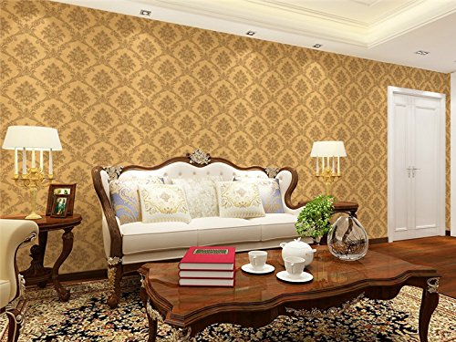 3D Retro Non-woven Fabrics Basso Relievo Wallpapers 0.53m x 9.5m=5.03m² Living Room Bedroom Background Wall Paper,Brown