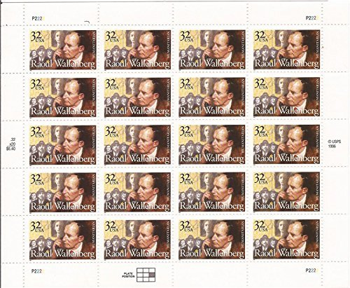 raoul-wallenberg-sheet-of-twenty-32-cent-us-postage-stamps-scott-3135-by-usps