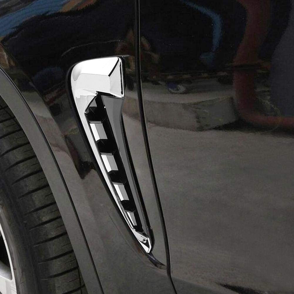 Fender Side Cover 2pcs Car Fender Side Air Vent Cover Trim Sticker Decoration Fit for X5 F15 14-18