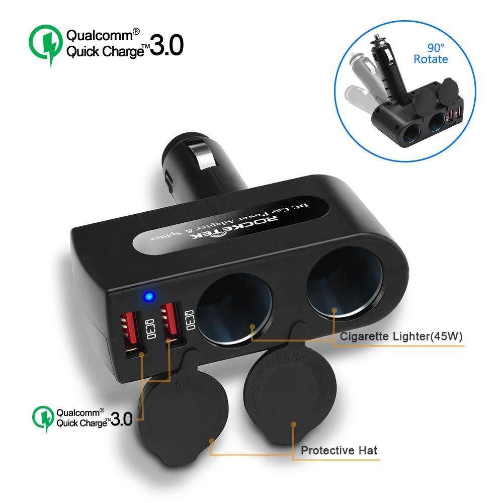 Cargador para Auto USB ROCKETEK (7JZ7Y3CD)