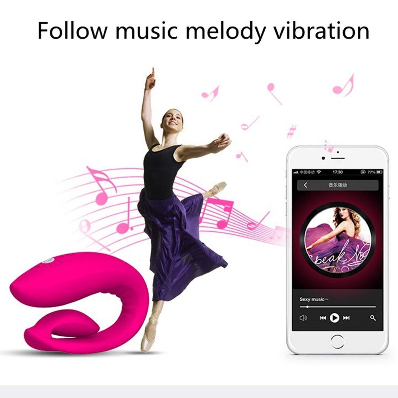 VKSJD Tshirt Good Vibrations New Smartphone App Remote Control Recharge Vibrat-ors G Spot Clitoris Stimulator Adult S-ex to-ys for Couples S-ex Machine