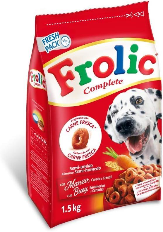 Frolic Pienso para Perros Adultos Sabor Buey (Pack de 5 x 1,5kg)