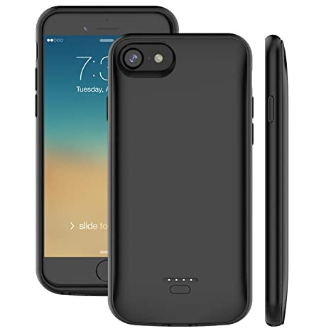 online store f98fd 7ad82 iPhone 7 8 6 6s Battery Case, Proker 4000mAh Ultra Slim Extended  Rechargeable Charger Case External Battery Pack Portable Power Bank  Protective ...