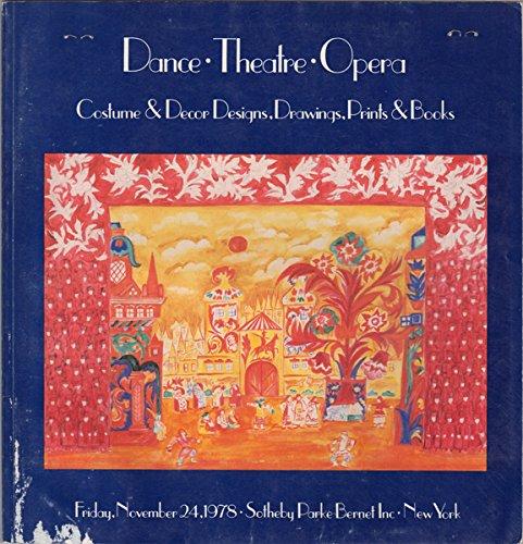 Dance, Theatre, Opera, Costume & Decor Designs, Drawings, Prints & Books : November 24, 1978 #4183