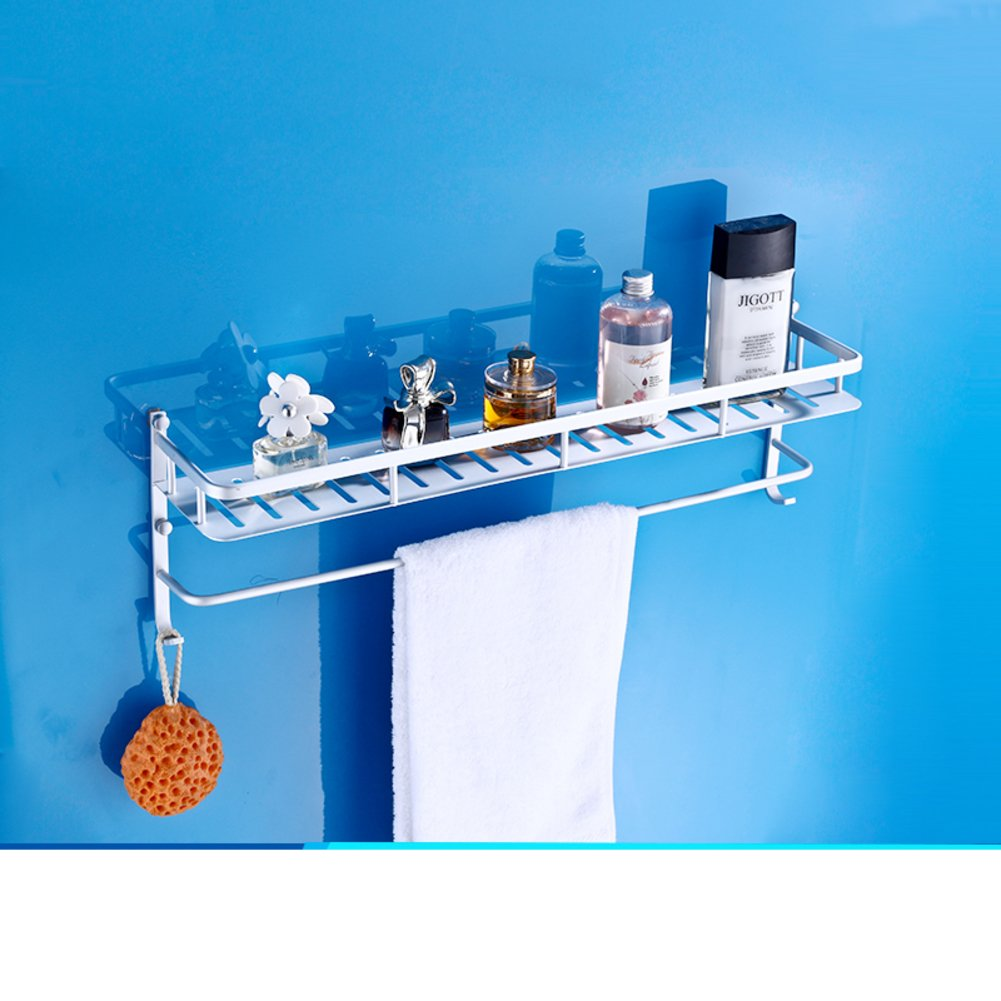 well-wreapped space aluminium storage racks/Bathroom basket corner brackets of the Quartet/Double-layer hook rack-F